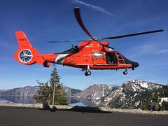 Sector North Bend aircrew rescues man in Crater Lake National Park (Coast Guard News) Tags: uscg coastguard searchandrescue mh65dolphinhelicopter craterlakenationalpark oregon unitedstates