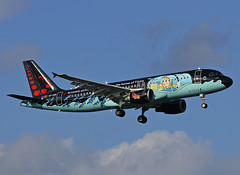OO-SNB Airbus A320 Brussels Airlines (@Eurospot) Tags: oosnb airbus a320 1493 brusselsairlines lfbo toulouse blagnac