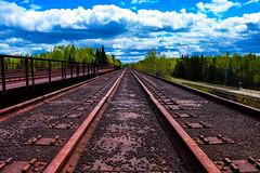 We're In Ore Country (BravoDelta1999) Tags: duluthmissabeandironrange dmir railroad canadiannational cn railway missabesubdivision burnett minnesota cloquet river bridge trestle taconite ore