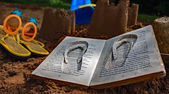 On the Beach ! (c.richard) Tags: paper paperart beach reading