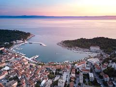 Sunset Makarska (1durch0) Tags: sunset makarska cro croatia hrvatska europe bay beach balkan holiday summer sky water see houses dji drone color colorful