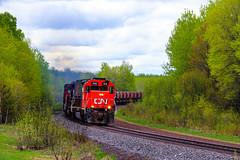 Fairlane Empties (BravoDelta1999) Tags: canadiannational cn railway duluthmissabeandironrange dmir railroad missabesubdivision saginaw minnesota emd sd40t3 sd403 408 taconite ore train