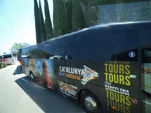 Leaving Montserrat for Cordorniu - Barcelona Catalonia coach - Catalunya Busturístic