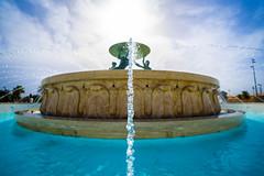 Triton Fountain, Valletta (james.createmedia) Tags: sony valletta fountain photo lightroom bokeh depthoffield blue sun malta