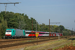 TRAXX Sint-Katelijne-Waver (Albert Koch) Tags: locomotief locomotive traxx bombardier benelux nmbs ns icr hispeed fyra train sky railway railroad road catenary