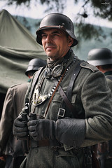on hand (dim.pagiantzas | photography) Tags: people man male portrait soldier warriors war worldwar2 uniform look weapons nazi wehrmacht group scene event cinematic