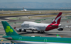 ocean birds (pbo31) Tags: bayarea california sanmateocounty nikon d810 color june 2019 boury pbo31 sanfranciscointernational sfo airport aviation airline plane travel sanbruno over aerlingus qantus boeing 747 tow lufthansa a380 departure runway airbus