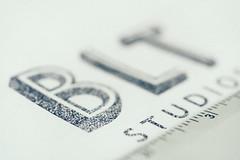BLT Landmark Logo (elevatoro) Tags: design blt solomon laser print client macro typography lettering ruler leibow justin