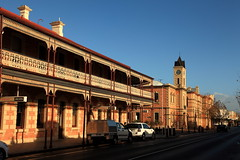 Commercial Street, Mount Gambier (Darren Schiller) Tags: mountgambier southaustralia hotel hall streetscape community australia architecture building country facade history morning rural pub