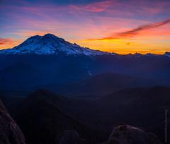 Mount Rainier Sunrise from High Rock Lookout (www.mikereidphotography.com) Tags: rainier fuji gfx50s sunrise lookout washington northwest mountain