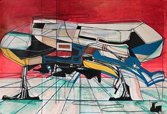 Jim Harris: Heimdall III (Jim Harris: Artist.) Tags: art cosmos space painting kunst rot red peinture avantgarde