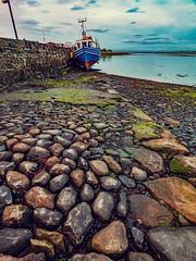 Boat (jim2302) Tags: boat killala harbour sea holiday fishing dry nightsky evening olympus penf 918mm stones texture