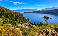 View of Emerald Bay on Lake Tahoe from Emerald Bay State Park, California (lhboudreau) Tags: