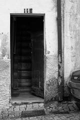 Entrance (lebre.jaime) Tags: portugal beira covilhã door entrance house stairs architecture digital ff fx fullframe bw blackwhite noiretblanc pb pretobranco ptbw nikon d600 voigtländer nokton 58f14sliis affinity affinityphoto