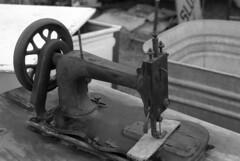 sewing machine (bergytone) Tags: film bw olympus om2n om kentmere 100 xtol