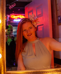 Burlesque HoF Weekend (Meteorseeker) Tags: models femalemodel canon canonphotography canon5dmkii burlesquehalloffame retrovegas reflections rebar retro tattoo tikibar downtownlasvegas davyslocker drinks nevada neon monochrome malemodel pretty pinup flashphotography flash depthoffield lasvegas blackandwhite