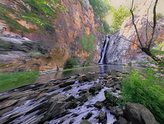 The Waterfall of the Hervidero.......,La Cascada del Hervidero........... (Joerg Kaftan) Tags: waterfall cascada agua water paisaje landscape tree arboles revelados flora foliage follaje crocket