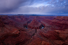 Hansbrough (circleyq) Tags: grand canyon national park hansbrough point arizona red rock sunrise cloudy mood blue sky outdoor landscape