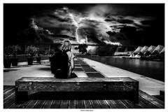 Kozmic Blues .... (michel di Méglio) Tags: bw olympus silverefexpro noiretblanc dark light black
