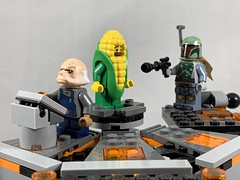 2019-162 - Corn on the Cob Day (Steve Schar) Tags: 2019 wisconsin sunprairie iphone iphonexs project365 lego minifigure cornonthecobday corn bobafett ugnaught carbonite freeze freezing starwars