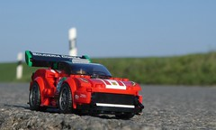 Ferrari on the Road (captain_joe) Tags: ferrari toy spielzeug 365toyproject lego minifigure minifig car auto 6wide speedchampions road strase strasse