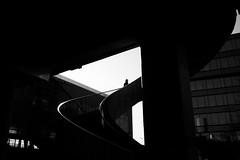 Hardbrücke (maekke) Tags: zürich hardbrücke sbb zvv highcontrast bw noiretblanc 2019 35mm fujifilm x100f ch switzerland streetphotography silhouette