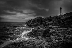 Ardnamurchan Lighthouse (cliveg004) Tags: ardnamurchanlighthouse ardnamurchan mostwesterlypoint ardnamurchanpoint ardnamurchanpenisula scotland westcoast lighthouse sea moody rocks sky landscape waves bw mono monochrome wild weather nikon d5200