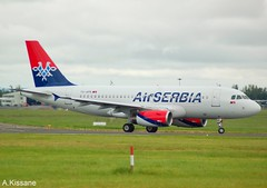 AIR SERBIA A319 YU-APK (Adrian.Kissane) Tags: sky grass plane outdoors aircraft aeroplane shannon airbus a319 2032 shannonairport airserbia yuapk 2452019 jet runway airliner airline