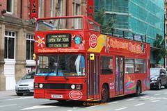 Blackpool 873 (D173 FYM) (SelmerOrSelnec) Tags: blackpool citysightseeing leyland olympian ecw d173fym manchester princessstreet opentop londonbuses bus