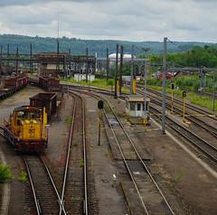 CFL Cargo (johnny.mignot) Tags: cfl cargo yellow jaune gelb schienen rails gare bahnhof station train zug eisenbahn chemin de fer belval eschsuralzette esch sur alzette rockhal