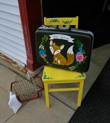 Hello Spring, Odessa, MO (Robby Virus) Tags: odessa missouri mo fox hello spring art suitcase chair happy
