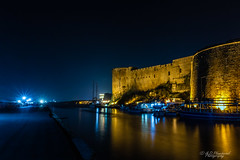 In the defence of darkness (Through_Urizen) Tags: architecture boatship category external girne girneharbour longexposure northcyprus panorama places transport kyrenia girnecastle canon1585mm canon70d canon travelphotography harbour coast lightstars castle fort structure venetian byzantine walls stonewalls stonebuilding mediterranean outdoor night dark darkness