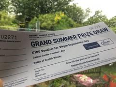 Better wording required maybe (stevenbrandist) Tags: ticket paper raffle prizedraw rain window summer