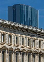 Contrast (jefvandenhoute) Tags: belgium belgië brussels brussel light architecture building old new