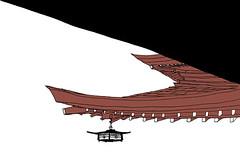 Meiji-Nja Temple, Tokyo. April 2019 (stevefaradaysketches) Tags: meijinjatemple temple tokyo japan urbansketch urbansketchers usk inkdrawing illustration onlocation fineliner penandinksketch architecture building