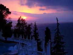 Summer sunset (R_Ivanova) Tags: summer sunset sun sky sea seaside water tree plant cloud clouds color colors pink blue sony holidays turkey rivanova риванова лято залез слънце светлина море вода облак облаци дърво цветно природа пейзаж турция небе fav20