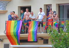 Sitges Pride spectators (M McBey) Tags: pride lgbt crowd sitges spain people catalonia procession color colour