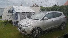 Welcome to Sunny Cornwall (andreboeni) Tags: hyundai ix35 caravan bailey pegasus 534 rain window raindrops weather cornwall