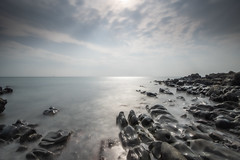 Black Rocks (jillyspoon) Tags: scotland dunfries galloway coast coastal longexposure lee leefilfters colourless greyday dullday rockformation wigotwnshire seascape sony sonya7iii sonyalpha alittlelight littlestopper 10seconds sigma1020