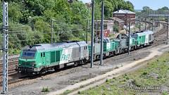 BB 75416 + BB 60129 + BB 60051 + BB 75113, Longueau - 11/06/2019 (Thierry Martel) Tags: longueau bb75000 bb75400 bb60000 locomotivethermique sncf
