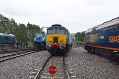 All Change - Crewe Open Day (Pavorossi) Tags: crewe crewedieseldepot openday class50 50049 defiance gbrf class57 57307 directrailservices ladypenelope class68 transpennine transpennineexpress 68027 splendid