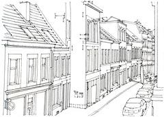 Liège, la rue Vivegnis (gerard michel) Tags: belgium liège rue sketch croquis urbansketch