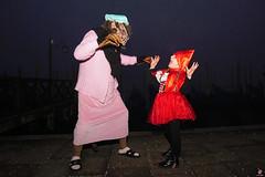 QUINTESSENZA VENEZIANA 2019 846 (aittouarsalain) Tags: venise venezia carnevale carnaval masque costume loup lupo gondole gondola nuit