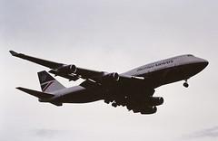 G-BNLV B747 British airways LHR 19-06-93 (cvtperson) Tags: gbnlv boeing 747400 british airways london heathrow lhe egll