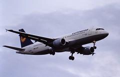 D-AIPU A320 Lufthansa LHR 19-06-93 (cvtperson) Tags: daipu a320 london heathrow lhr egll