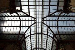 Glass Ceiling (Tony Worrall) Tags: preston lancs lancashire city welovethenorth nw northwest north update place location uk england visit area attraction open stream tour country item greatbritain britain english british gb capture buy stock sell sale outside outdoors caught photo shoot shot picture captured ilobsterit instragram photosofpreston architecture building miller arcade glass millerarcade ceiling lines shapes geometric cross victorian glassceiling