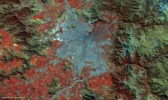 Santiago, Chile, viewed by Proba-V (europeanspaceagency) Tags: santiago chile mountain city esa europeanspaceagency space universe cosmos spacescience science spacetechnology tech technology earthfromspace earthobservation probav santiagodechile america southamerica geography cop 25 cop25 technologyimageoftheweek
