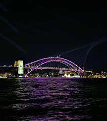 2019 Sydney: Vivid Harbour Bridge (dominotic) Tags: 2019 vividsydney sydneyharbourbridge harbourlights citysparkle sydneyharbour vividlight lightinstallations art festival lighting light lightprojection icon colour festivaloflight dark afterdark night winterfestival nightlighting nightsky movement blur sydney nsw australia
