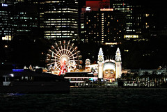 2019 Sydney: Vivid Luna Park (dominotic) Tags: 2019 vividsydney sydneyharbourbridge harbourlights citysparkle sydneyharbour vividlight lightinstallations art festival lighting light lightprojection icon colour festivaloflight dark afterdark night winterfestival nightlighting nightsky lunapark movement blur sydney nsw australia