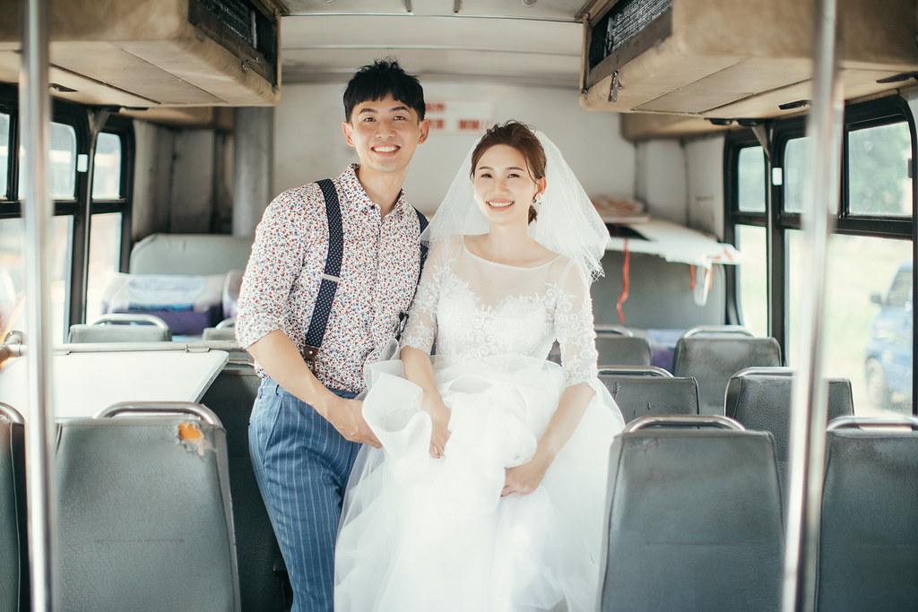 廢棄公車也能拍出空氣感的日系婚紗|Hermosa Wedding